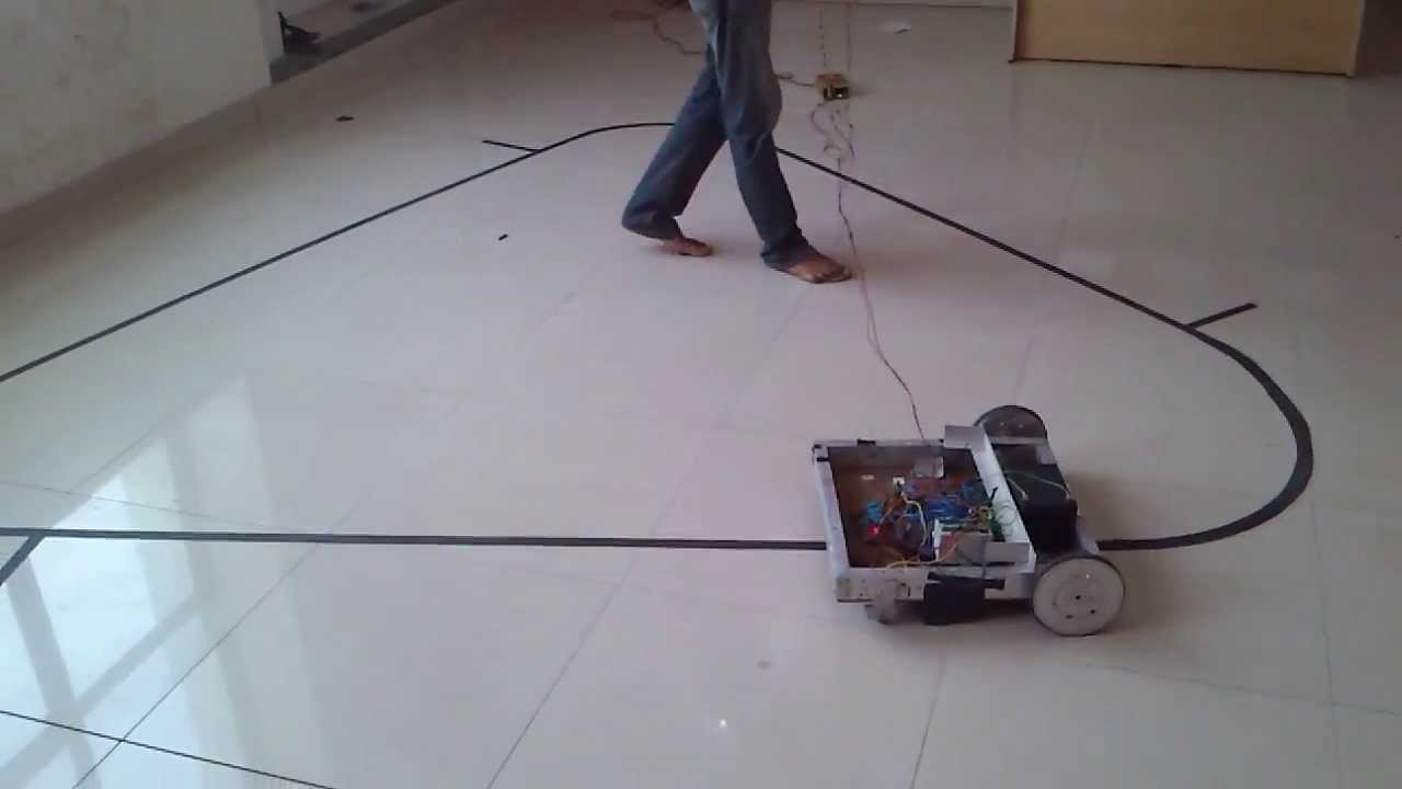 plc based automated guided vehicle final year project line