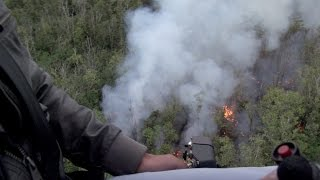Hawaii Lava Flow Overflight - Raw Video from Sept. 8, 2014