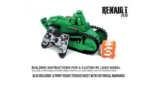 Build your own LEGO RC Renault FT-17 tank - building instructions now available!