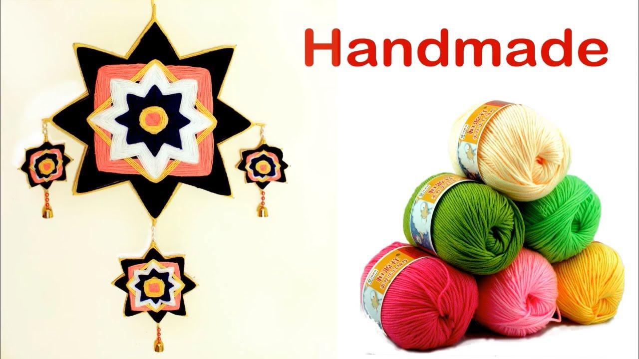 Handmade Woolen Wall hanging Craft Idea || DIY Room decoration Idea ...