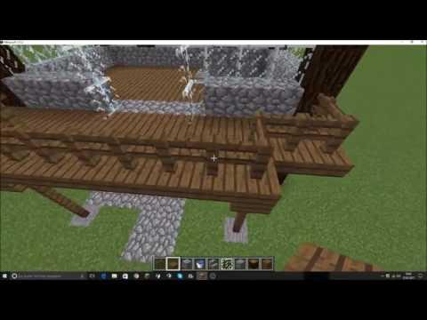 minecraft garten einrichtung 07 pavillon br cke und teich tutorial. Black Bedroom Furniture Sets. Home Design Ideas