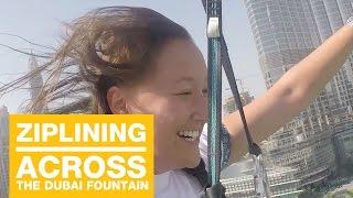 Ziplining across The Dubai Fountain with XLine