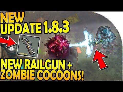 NEW UPDATE 1.8.3 - NEW POWER ARMOR RAILGUN + ZOMBIE COCOON - Last Day On Earth Survival Update 1.8.3