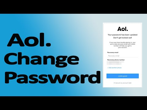How To Change AOL Password | AOL Mail  Password Change