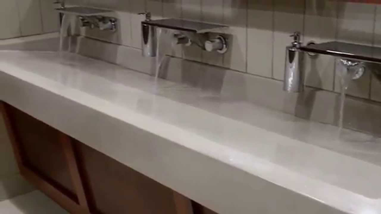 A2 Concrete Countertops Trough Ramp Sink Adrian College