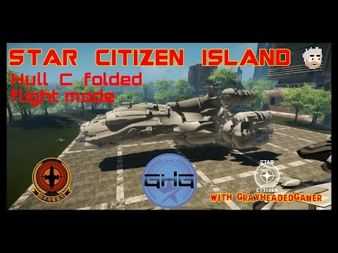 Star Citizen Island - Hull C retracted size comparison.