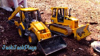 Toy Trucks for Kids: Fisher-Price Bruder Construction Trucks- Bulldozer Excavator Dump Truck Roller