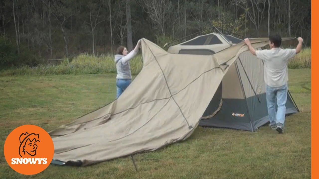 Oztrail Fast Frame Tourer Tent - How to setup & Oztrail Fast Frame Tourer Tent - How to setup - YouTube