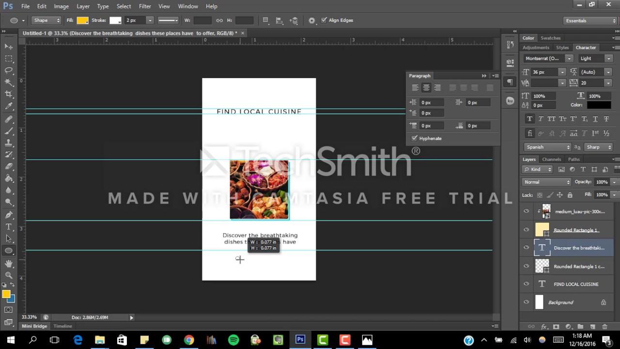 App Tour UI/UX Design Tutorial in Adobe Photoshop (Graphic Design ...