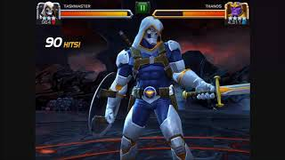 Marvel contest of champions Taskmaster vs Thanos!!