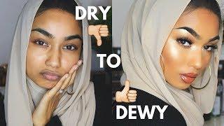 connectYoutube - Dry To Dewy makeup tutorial | Sabina Hannan