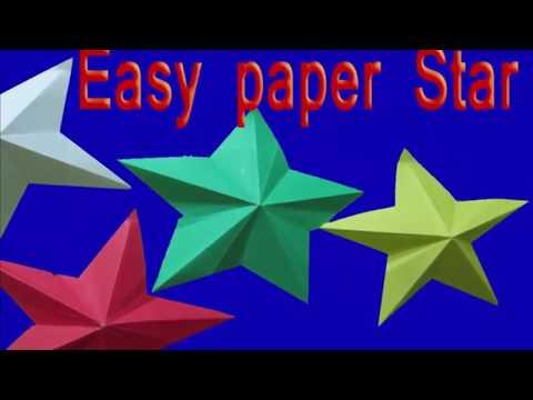 how to make DIY paper stars || paper stars lanterns ||  paper bag stars || paper mario sticker stars