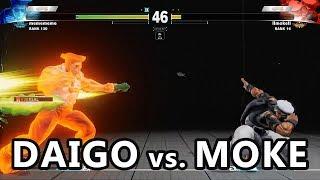 Street Fighter V Ranked Match. Result below: Set 1: Daigo 2 - 3 Mok...