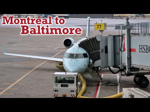 Full Flight: Air Canada Express CRJ-200 Montréal To Baltimore (YUL-BWI)