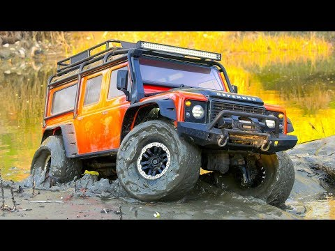 STARRING RC TRUCK CRAWLER LAND ROVER DEFENDER TRAXXAS TRX-4!! RC SCALER 4WD