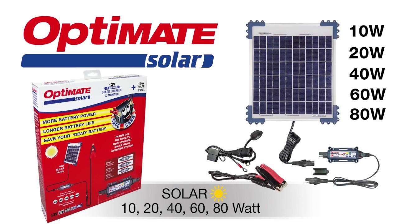 OptiMate SOLAR + 60W Solar Panel