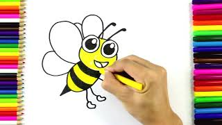 How to Draw a Bumble Bee for Kids | Drawing and Coloring A Bee | Art4Kids