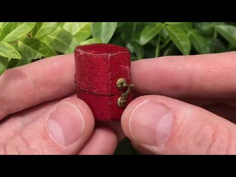 Guess How Big - Magnificent Antique Diamond Ring in Tiny Antique Ring Box