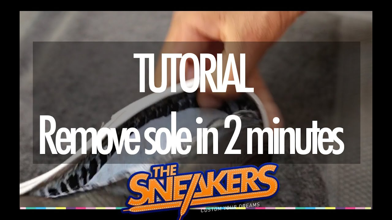 7b671da5cc THE SNEAKERS - How to customize sneakers - tutorial - YouTube