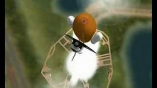 Décollage navette spatiale sur simulateur