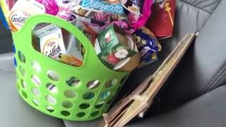 Making A Care Basket From Dollar Tree