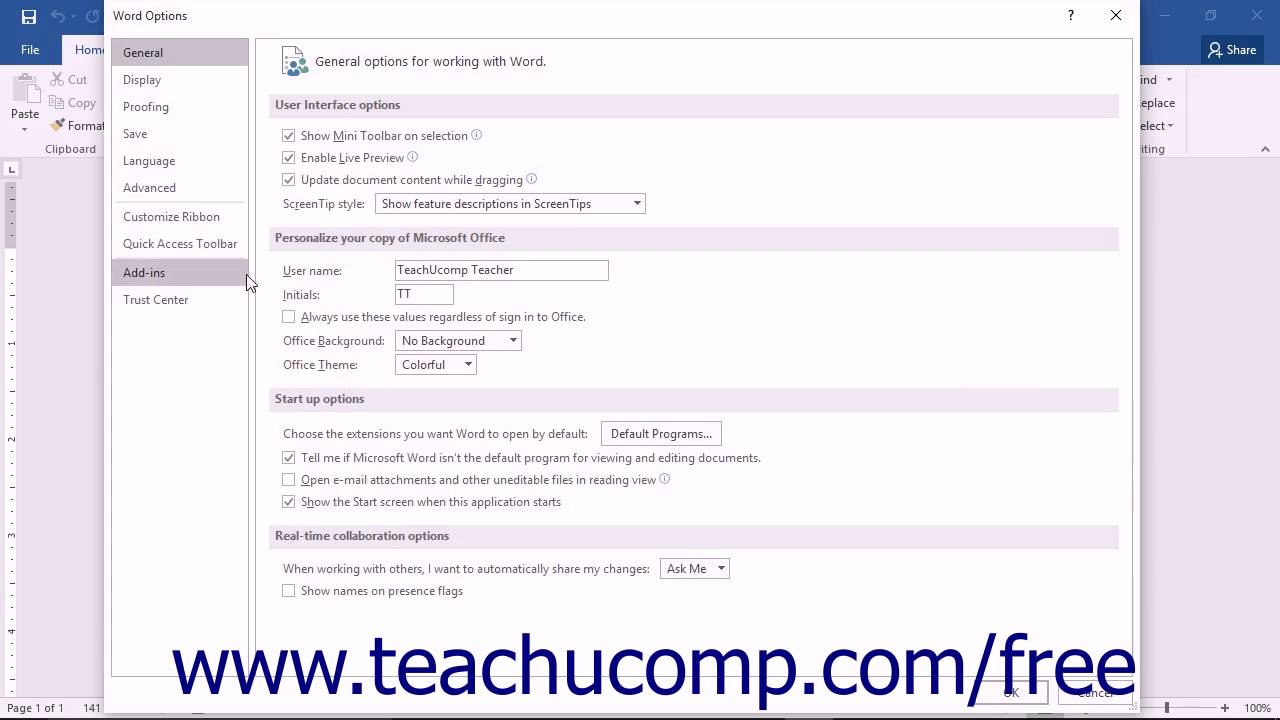 Show the Developer Tab in Word - Instructions - TeachUcomp, Inc