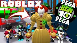 Roblox! - PEGA-PEGA COM IT A COISA - PENNYWISE CONTRA TODOS NO BEN 10 ARRIVAL OF ALIENS !