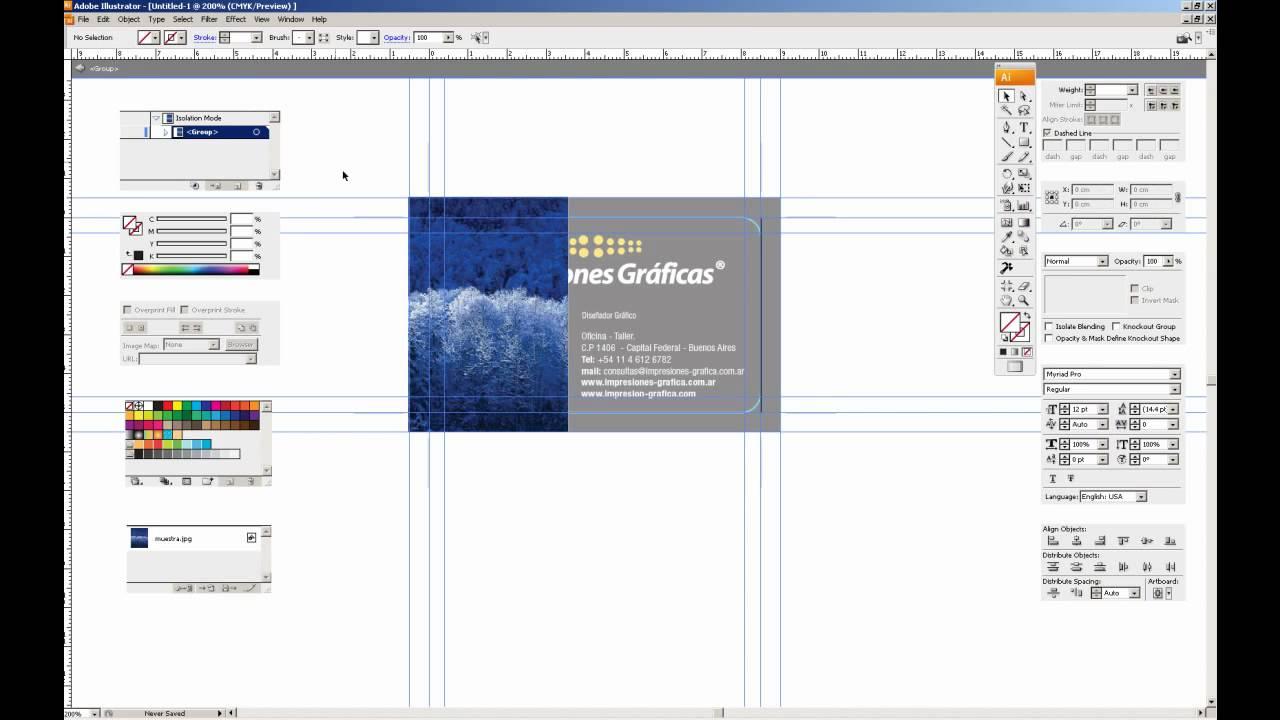 Tutorial armado de tarjetas personales PARTE 2- para impresion offset Impresiones Graficas