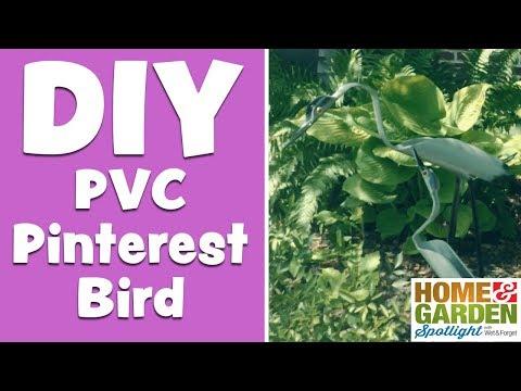 DIY PVC Pinterest Bird