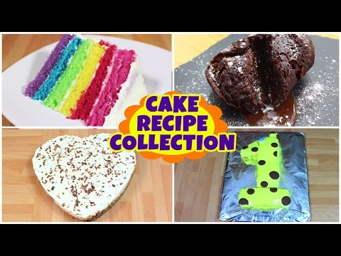 Cake Recipe Collection | Rainbow Cake And More Ideas | Quick And Easy Recipe | HooplaKidz Recipes