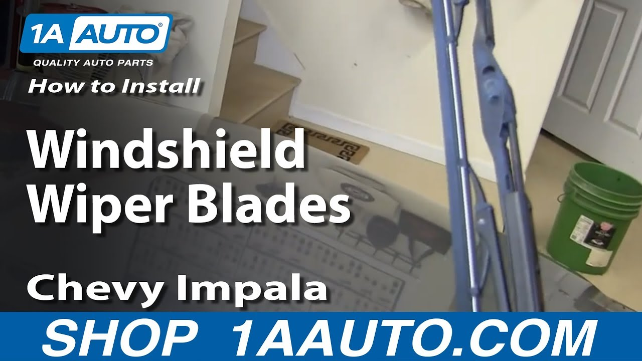 How To Install Replace Windshield Wiper Blades 2006 12 Chevy Impala 2003 Trailblazer Fuse Box Diagram Youtube