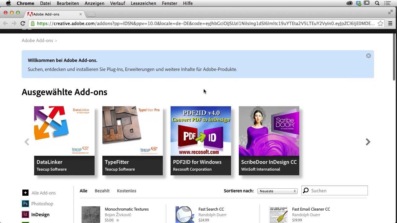 InDesign CC Neuerungen 2014 Tutorial: Mit Add-ons erweitern ...