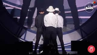 "BTS Jimin and Jungkooks dance to Michael Jackson's ""Black or White"" BTS Prom Party Festa 2018"