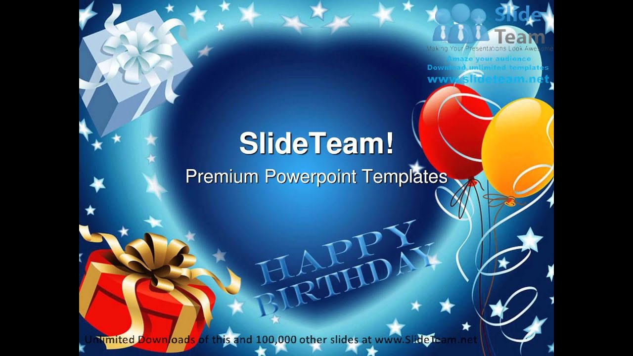 Happy Birthday Events Powerpoint Templates Themes And
