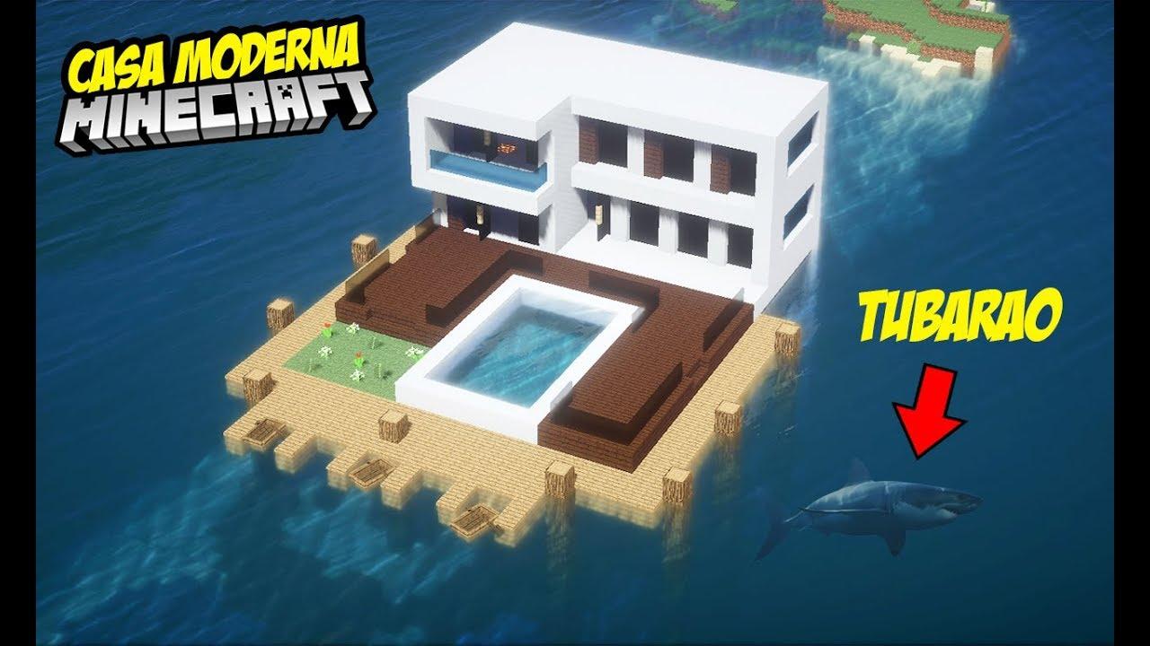 Minecraft tutorial casa moderna com andar debaixo d 39 gua for Casa moderna survival minecraft