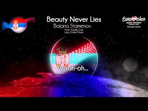 "Bojana Stamenov - ""Beauty Never Lies"" (Serbia) - [Karaoke version]"