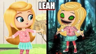 Shimmer and Shine Characters Horror/Monster Version - Theakashcreations