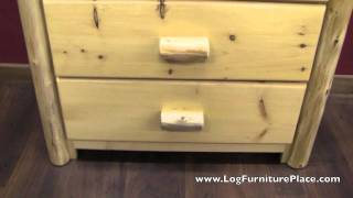 Rustic 3 Drawer Log Chest From The Cedar Lake Cabin Collection