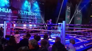 Joshua v Klitschko public workout.