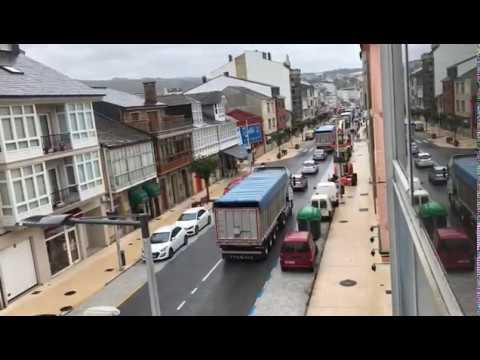 La caravana de camiones arranca desde As Pontes rumbo a Madrid
