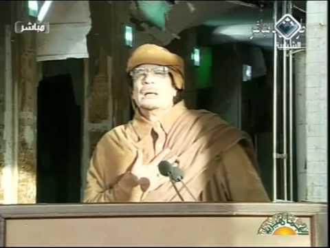 خطاب العقيد معمر القذافي الأخير 3 .Gaddafi Speech 22.02.2011.