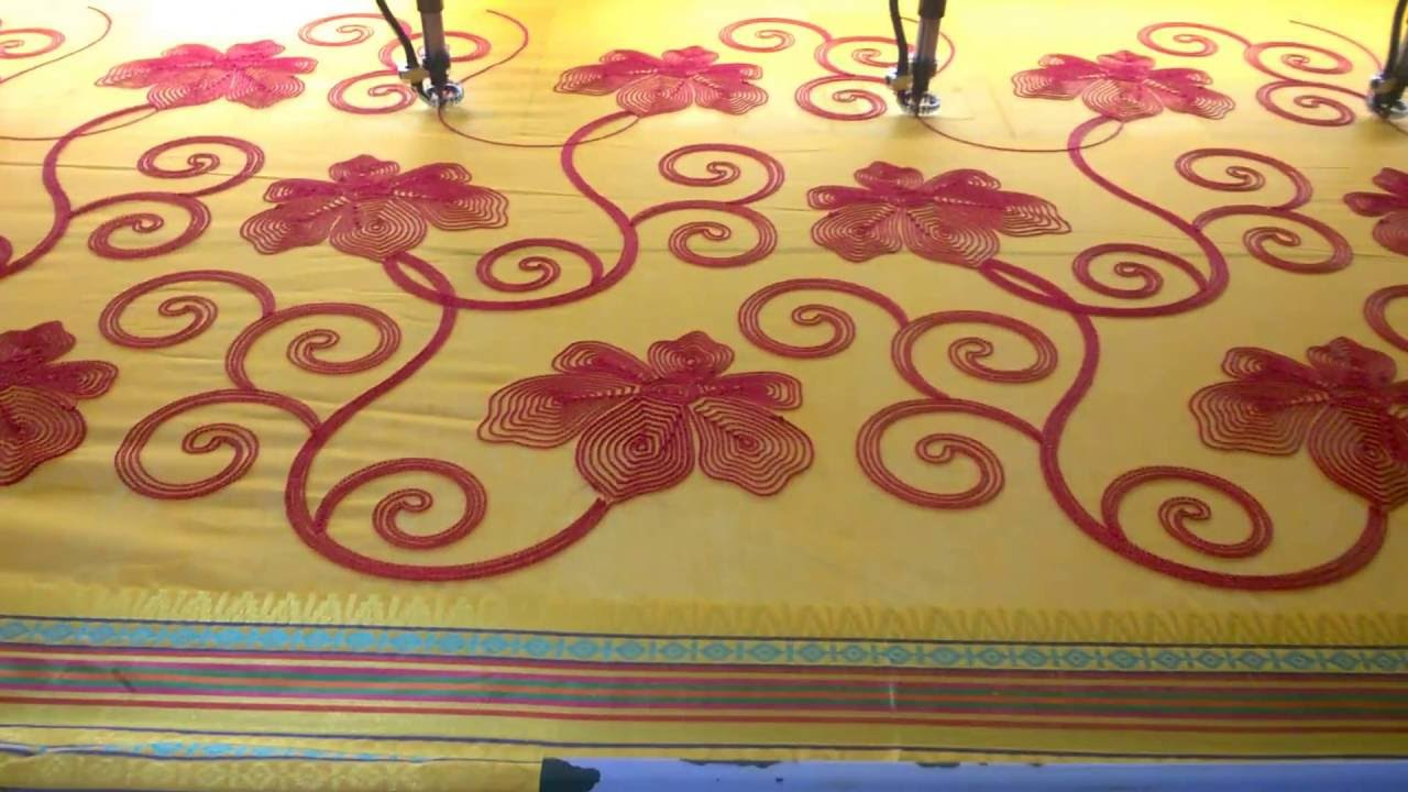 Aari embroidery machine youtube