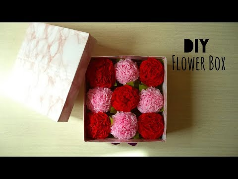 DIY: Flower Box (Flowers & Box from Scratch) | My Crafting World