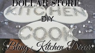 DIY DOLLAR STORE GLITTER LETTERS KITCHEN DECOR PETALISBLESS 🌹