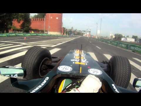 Onboard lap of Moscow city F1 track - Team Lotus & Luiz Razia