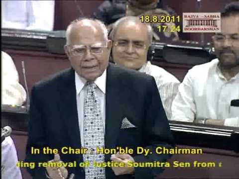 Removal of Justice Soumitra Sen from the office of the Calcutta High Court Part - 2