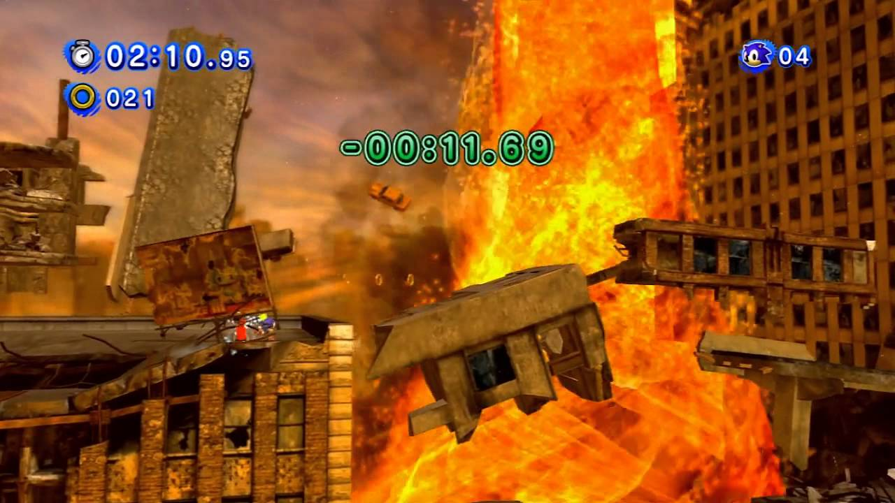 Sonic Generations Crisis City Red Rings