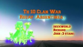 Clash of Clans: War Recap: 3 Star attack by Josh TH 10 vs TH 10 #83