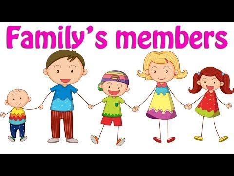 Family's members   Học các thành viên trong gia đình bằng tiếng anh cho bé