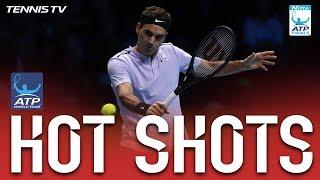Video Federer Perfect Volley Hot Shot Nitto ATP Finals 2017 download MP3, 3GP, MP4, WEBM, AVI, FLV November 2017